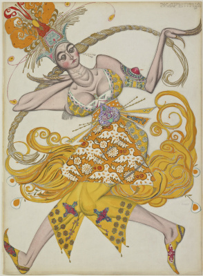 "Lev Samoilovich Bakst (Leon Bakst). A dancer from the ballet ""the Firebird"""
