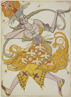 """Лев Самойлович Бакст (Леон Бакст). Танцовщица из балета """"Жар-птица"""""""