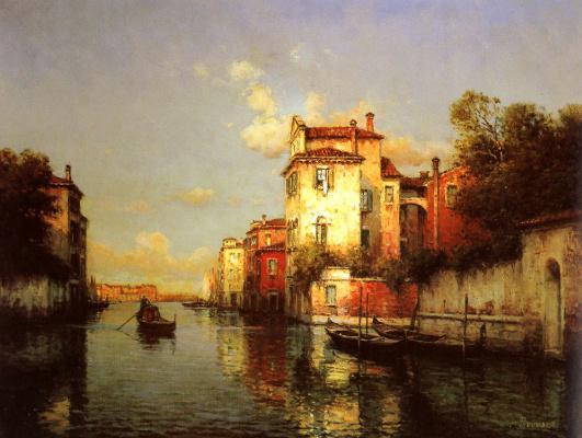 Antoine Bouvard. Venetian canal