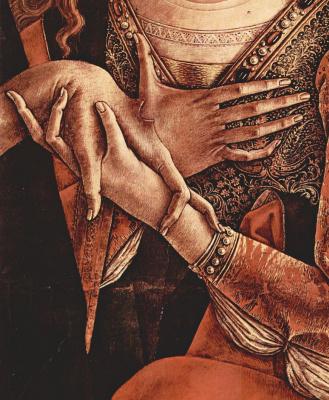 Carlo Crivelli. Pieta. Fragment