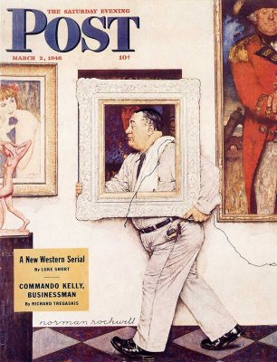 "Norman Rockwell. Museum worker. Cover of ""The Saturday Evening Post"" (March 2, 1946)"