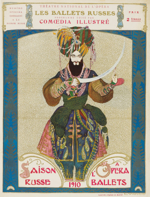 The poster for Diaghilev's Russian seasons of 1910