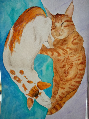 Elena Sergeevna Makarova. Cats