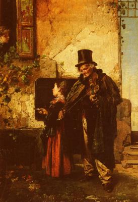 Доменико Индуно. Старик музыкант
