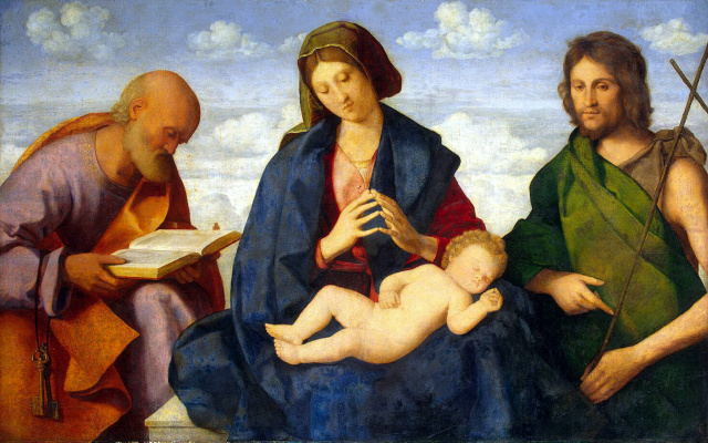 Мадонна с младенцем, Иоанном Крестителем и апостолом Петром