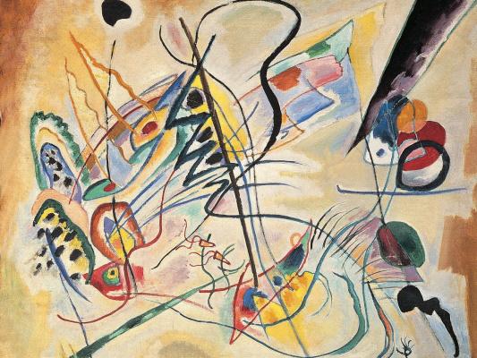 Wassily Kandinsky. Musical Overture. Purple wedge