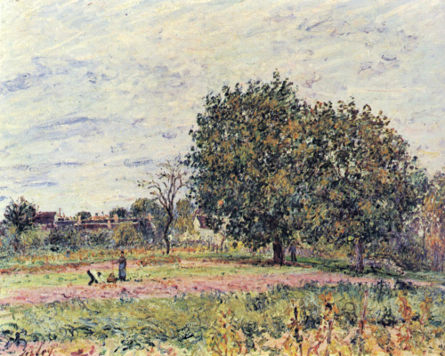 Alfred Sisley. Hazel at sunset in early October