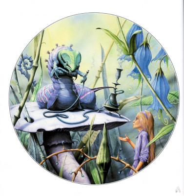 Rodney Matthews. Alice and the caterpillar