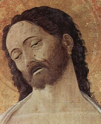 Andrea Mantegna. The altar of St. Luke, detail: Christ