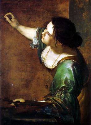 Артемизия Джентилески. Автопортрет в виде аллегории живописи