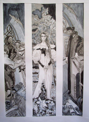 """Andrey Leonidovich Shepel. """"Copy of a triptych Vrubel Faust"""
