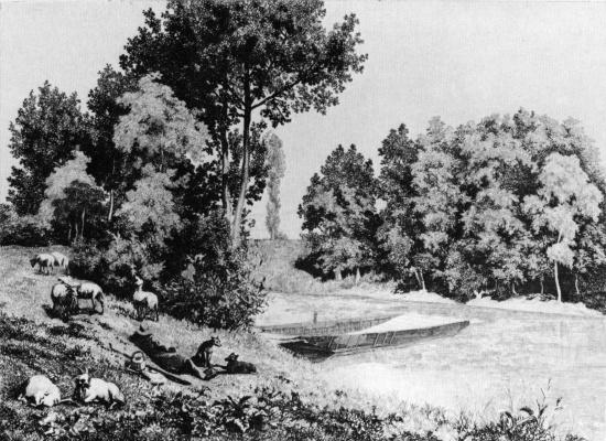 Charles-Francois Daubigny. Views of Bas-MEUDON