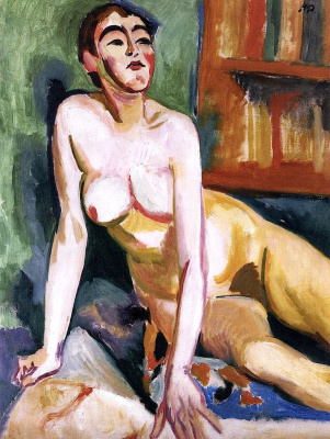 Max Pehshtein. Seated Nude woman. (Sonia)