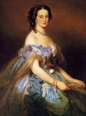 Franz Xaver Winterhalter. Portrait of Grand Duchess Alexandra Iosifovna, a Princess of Saxony and Altenburg
