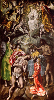 Domenico Theotokopoulos (El Greco). Baptism of Christ