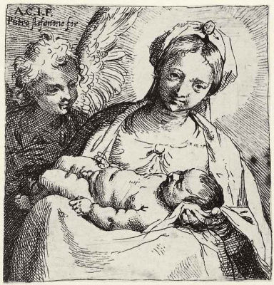 Annibale Carracci. Madonna angel