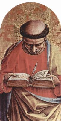 Карло Кривелли. Святой Варфоломей. Центральный алтарь кафедрального собора в Асколи, полиптих, основание алтаря, левая внешняя доска