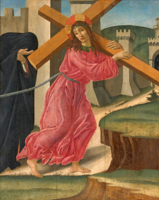 Sandro Botticelli. The carrying of the cross