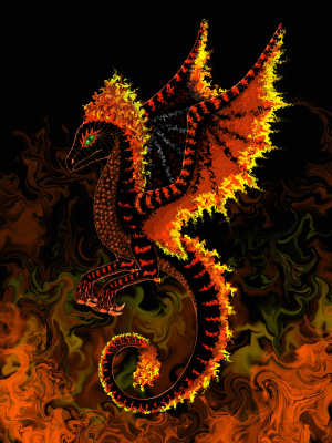 Olga Vasilievna Potapova. Fire wyvern