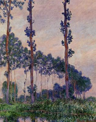 Claude Monet. Three poplars in cloudy weather