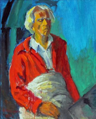 Николай Багратович Никогосян. Автопортрет в красной куртке