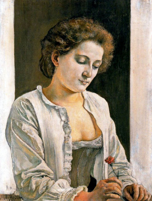 Ferdinand Hodler. Woman with red flower