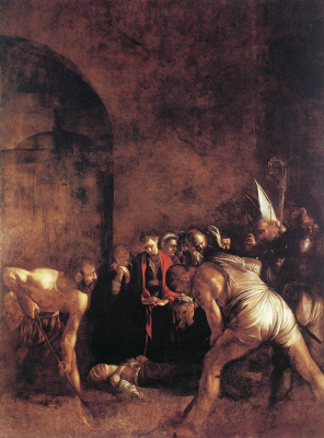 Michelangelo Merisi de Caravaggio. The Burial Of St. Lucia