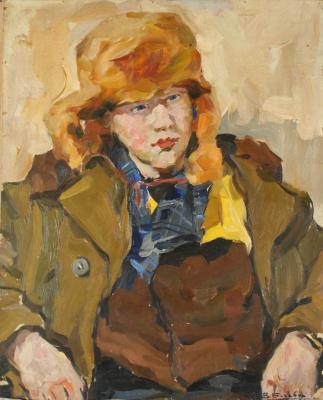 "Владимир Иванович Бичевой. ""Ginger"". Portrait of a boy"