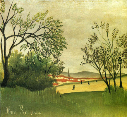 Henri Rousseau. View Of Saint-Cloud