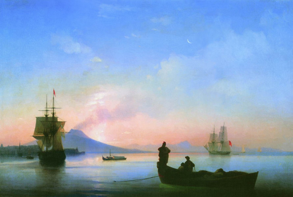 Ivan Aivazovsky. The Gulf of Naples in the morning