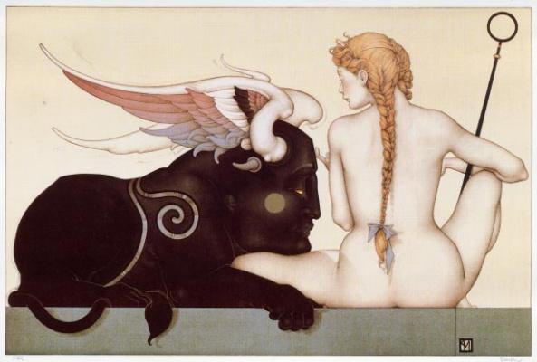 Michael Parkes. Black Sphinx