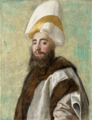 Jean-Etienne Liotard. Portrait of the Grand vizier of the Ottoman Empire