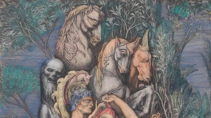 Ernst Fuchs. Venus auf der Insel des Todes II