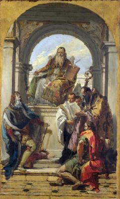 Giovanni Battista Tiepolo. Four saints