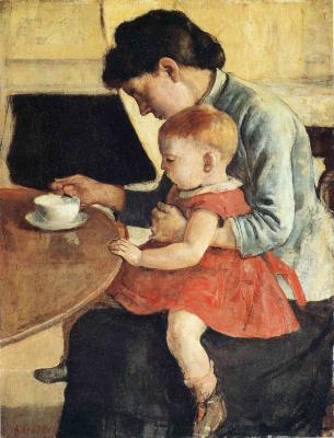 Фердинанд Ходлер. Женщина с ребенком
