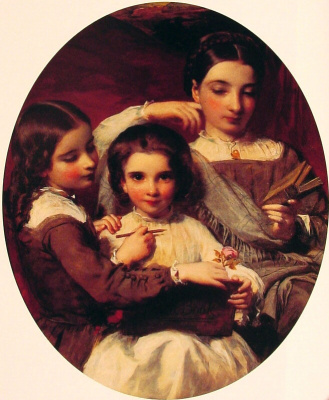 James Sant. Portrait of the Russell sisters