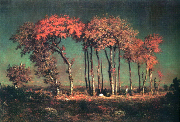 Theodore Rousseau. Under the birches, evening