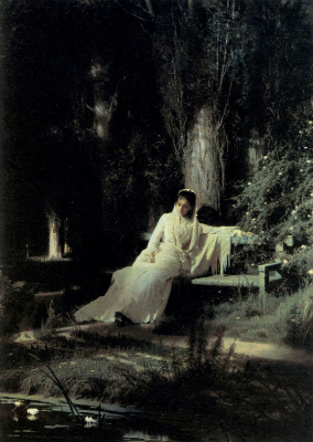 Ivan Nikolayevich Kramskoy. Moonlit night