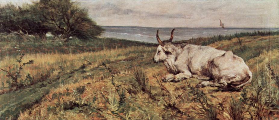 Giovanni Fattori. Lying cow