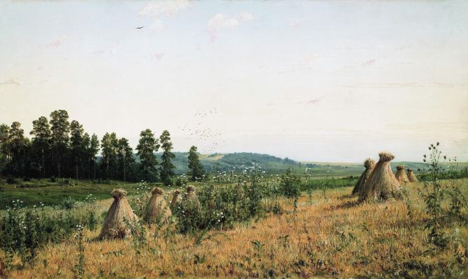 Ivan Ivanovich Shishkin. Compressed field. Polesie landscape