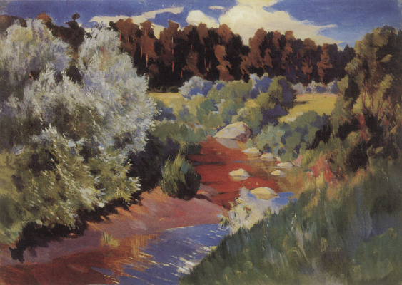Arkady Alexandrovich Rylov. Landscape with river