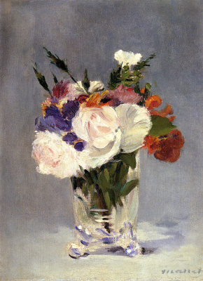 Edouard Manet. Still life with flowers