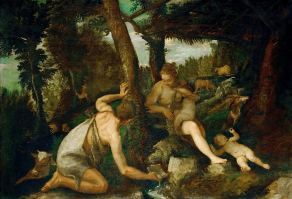 Paolo Veronese. Adam and Eve after the expulsion from Paradise