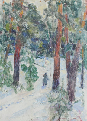 Vasily Fadeevich Demin. In the Akishhen forest