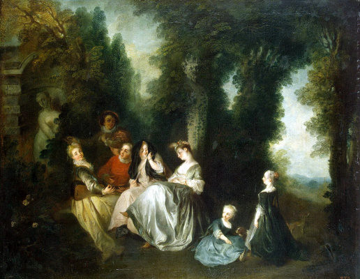 Nicolas Lancret. Society in the garden