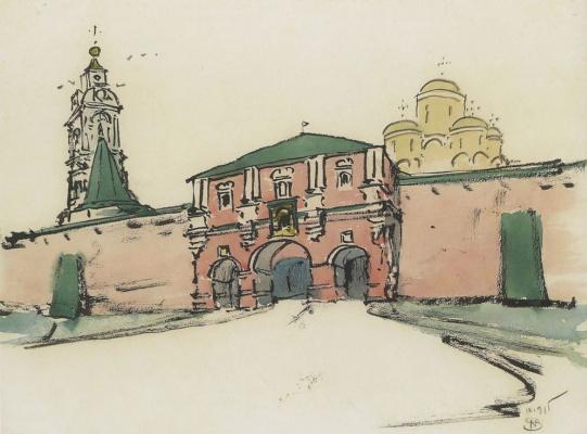 Въезд в древнерусский монастырь