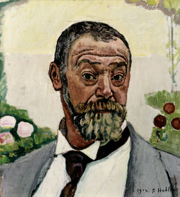 Ferdinand Hodler. Self portrait with roses