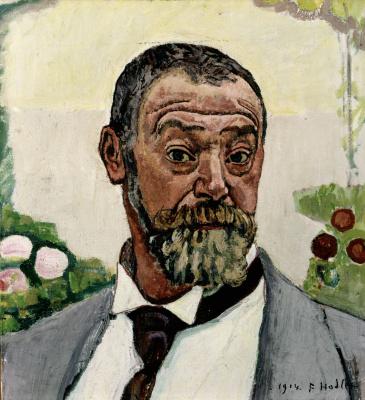 Фердинанд Ходлер. Автопортрет с розами