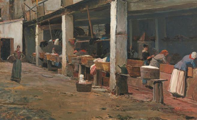 Santiago Rusignol. The Washing Place, Barcelona