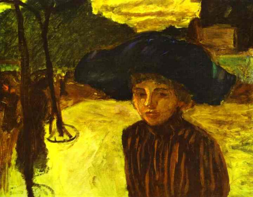 Pierre Bonnard. A woman in a blue hat